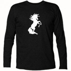 Koszulka z długim rękawem Horse on hind legs - PrintSalon