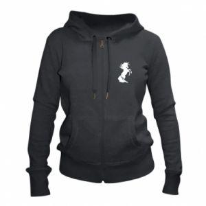 Damska bluza na zamek Horse on hind legs - PrintSalon