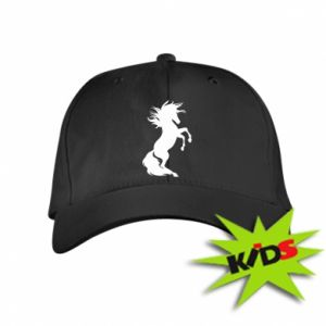 Dziecięca czapeczka z daszkiem Horse on hind legs - PrintSalon