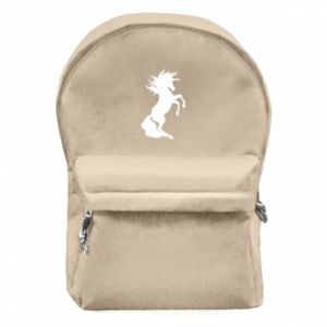 Backpack with front pocket Horse on hind legs