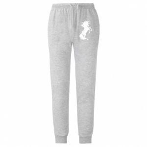 Męskie spodnie lekkie Horse on hind legs - PrintSalon