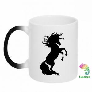 Kubek-magiczny Horse on hind legs