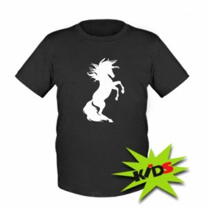 Kids T-shirt Horse on hind legs