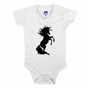 Baby bodysuit Horse on hind legs