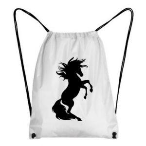 Backpack-bag Horse on hind legs