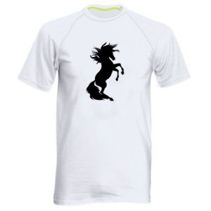 Men's sports t-shirt Horse on hind legs
