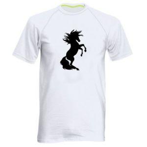 Męska koszulka sportowa Horse on hind legs - PrintSalon