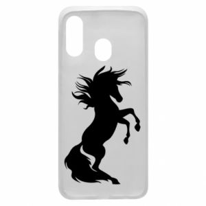 Phone case for Samsung A40 Horse on hind legs