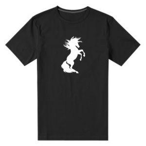 Męska premium koszulka Horse on hind legs