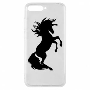 Phone case for Huawei Y6 2018 Horse on hind legs