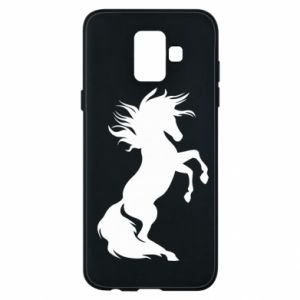 Phone case for Samsung A6 2018 Horse on hind legs