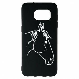 Etui na Samsung S7 EDGE Horse portrait lines profile