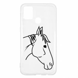 Etui na Samsung M31 Horse portrait lines profile