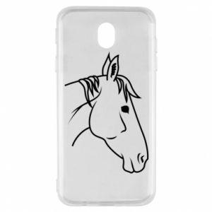 Etui na Samsung J7 2017 Horse portrait lines profile