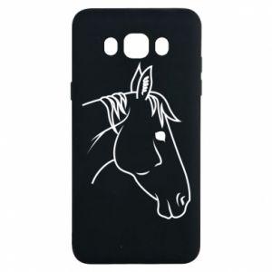 Etui na Samsung J7 2016 Horse portrait lines profile