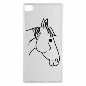 Etui na Huawei P8 Horse portrait lines profile