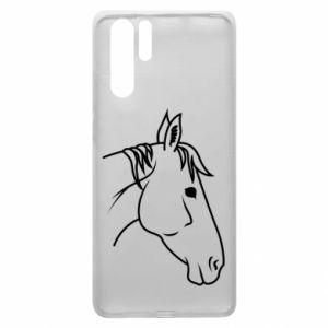 Etui na Huawei P30 Pro Horse portrait lines profile
