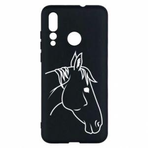Etui na Huawei Nova 4 Horse portrait lines profile