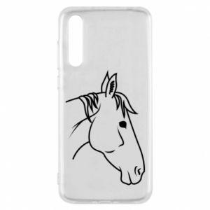 Etui na Huawei P20 Pro Horse portrait lines profile
