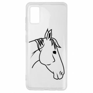 Etui na Samsung A41 Horse portrait lines profile