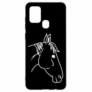 Etui na Samsung A21s Horse portrait lines profile