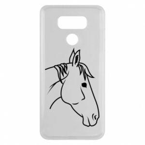 Etui na LG G6 Horse portrait lines profile