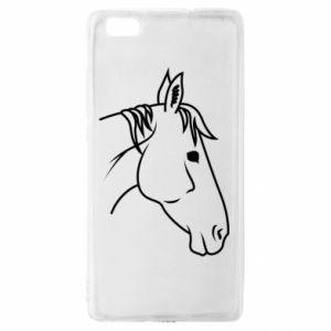 Etui na Huawei P 8 Lite Horse portrait lines profile