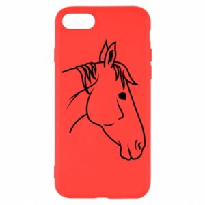 Etui na iPhone SE 2020 Horse portrait lines profile