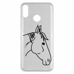 Etui na Huawei Y9 2019 Horse portrait lines profile