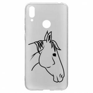Etui na Huawei Y7 2019 Horse portrait lines profile