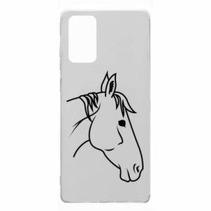 Etui na Samsung Note 20 Horse portrait lines profile