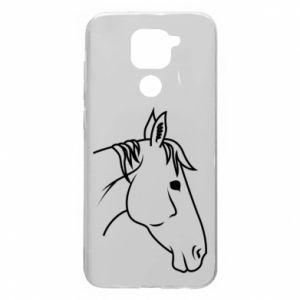 Etui na Xiaomi Redmi Note 9/Redmi 10X Horse portrait lines profile
