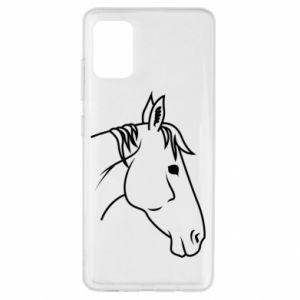 Etui na Samsung A51 Horse portrait lines profile