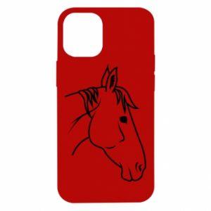 Etui na iPhone 12 Mini Horse portrait lines profile