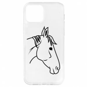 Etui na iPhone 12/12 Pro Horse portrait lines profile
