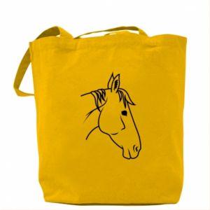 Bag Horse portrait lines profile