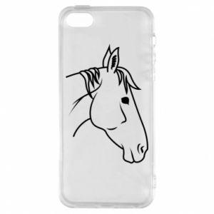 Phone case for iPhone 5/5S/SE Horse portrait lines profile