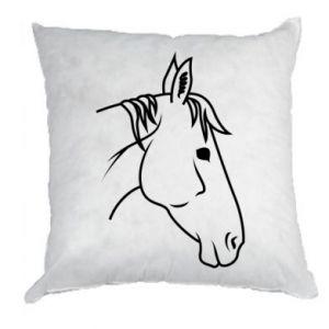 Pillow Horse portrait lines profile