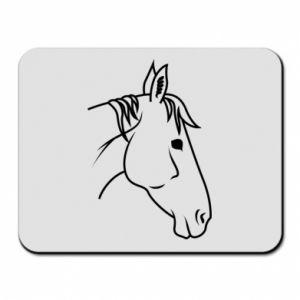 Mouse pad Horse portrait lines profile