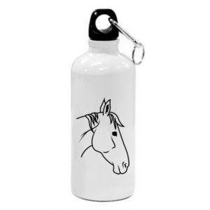 Bidon turystyczny Horse portrait lines profile