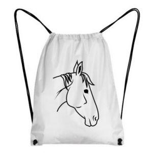 Backpack-bag Horse portrait lines profile