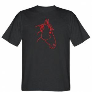 T-shirt Horse portrait lines profile