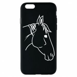 Phone case for iPhone 6/6S Horse portrait lines profile