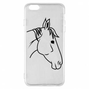 Phone case for iPhone 6 Plus/6S Plus Horse portrait lines profile