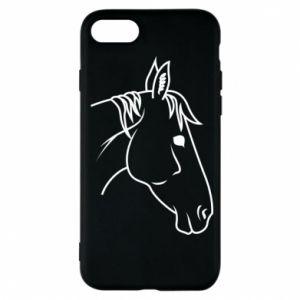 Phone case for iPhone 7 Horse portrait lines profile