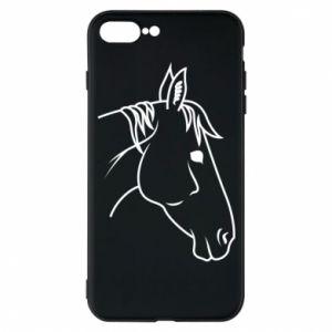 Phone case for iPhone 7 Plus Horse portrait lines profile
