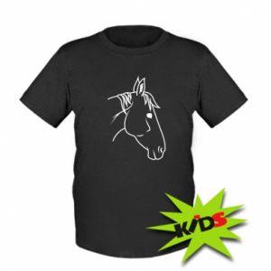 Kids T-shirt Horse portrait lines profile