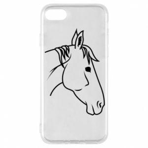 Phone case for iPhone 8 Horse portrait lines profile