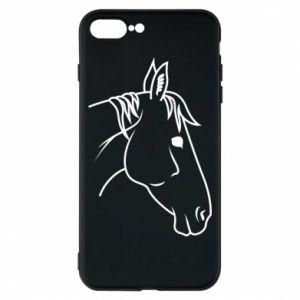 Phone case for iPhone 8 Plus Horse portrait lines profile