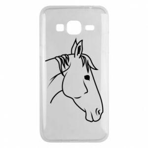 Phone case for Samsung J3 2016 Horse portrait lines profile